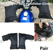 2x Motorcycle Scooter Atv Handlebar Gloves Hand Muffs Winter Thermal Warm Mitts