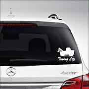 Towing Life Tow Truck Driver Car Truck Motorcycle Windows Bumper Wall Decor Viny