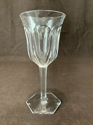 Baccarat Crystal French Malmaison Tall Water Goblet Glass 8 1/8 H As Is Chip