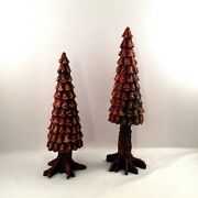 Dept 56 Brown Pine Cone Trees Village Accessories Holiday Department 56 Set Of 2