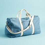 Known Supply Weekender Duffel Lake Blue Canvas Brass - Fall 2019 Causebox - New