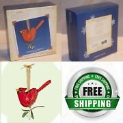 2005 Northern Cardinal Ornament Hallmark1st Beauty Of The Birds Red Berries