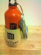 The Factory Water Bottle With Burlap/rubber Koozie And Screw-in Cap