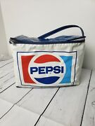 Vintage Pepsi Cooler Carrier Prepac 1970s 1980s Zippered All Blue Top Rare