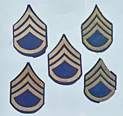 Wwii Us Army Staff Sergeant Insignia Patches Lot Of 5 Ww2 Military
