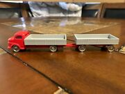 Lego Ho Scale Vintage Classic 1960's Mercedes Flatbed Trailer Truck Very Rare