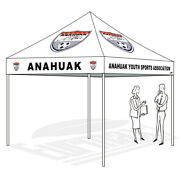 Pop Up Canopy Instant Gazebo Tent 10x10 Custom Logo Printing Polyester Top Cover