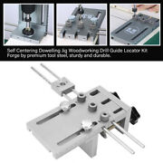 4 In 1 9mm Woodworking Self Centering Dowelling Jig Drill Guide Locator Kit High