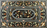48 X 32 Marble Dining Furniture Table Marquetry Inlay Stone Living Room Decor