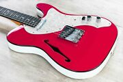 Fender 2019 Limited Edition Two-tone Telecaster Guitar W/ Case Ebony Fiesta Red