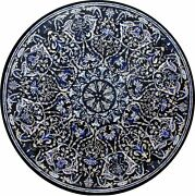 42 Dining Coffee Marble Table Top Pietra Dura Inlaid Floral Work Art Home Decor