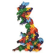 Wooden Map Of Britain Jigsaw Puzzle Handmade In Ireland