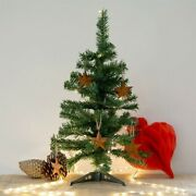 Christmas Tree 18in Green Table Top Charlie Pine Small Mini Desk Home Artificial