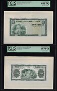 Martinique Face And Back 100 Francs Nd1942 P19p Proof Uncirculated