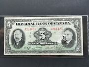 1934 Imperial Bank Of Canada 5 Dollars Banknote