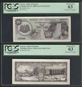 Guyana Face And Back 10 Dollars Ndca1960 Pick Unlisted Essay Proof Uncirculated