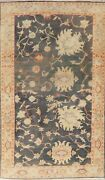 Decorative Antique Look Floral Oushak Oriental Area Rug Wool Hand-knotted 6x9