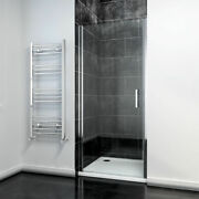Sunny Shower 28-36and039and039w X 72and039and039h Pivot Swing Shower Door Frameless Polished Chrome