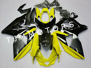 For Gsxr1000 2009-2016 Abs Injection Mold Bodywork Fairing Kit Cowl Yellow Grey