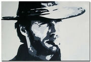 Genuine Oil Painting On Canvas Hand Paint- Clint Eastwood - A Fistful Of Dollars