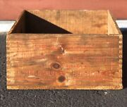 Vintage Pearsons Red Box Tobacco Byfield Mass Fine Scotch Snuff Wooden Box Crate