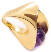Gianni Versace 18 Kt Yellow Gold Kinetic Sculptural Swivel Ring Retro Vintage