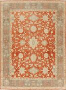 Floral Oushak Egyptian Area Rug Oriental Hand-knotted Antique Look Carpet 8x11