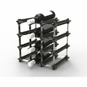 Nook Small Wine Rack 32.5x23.5x32.5cm Holds 9-bottles Stainless Steel/polymer