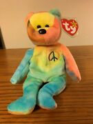 Very Rare Mint Ty Beanie Baby-peace Bear- Original Collectible Tag Errors 3