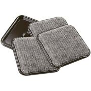 Furniture Caster Cups Square With Carpeted Bottom For Hard Or Wood Floors