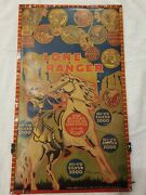 Large Vintage Lone Ranger Double Sided Target Game Louse Marx And Co. Hi-ho Silver