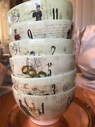 Nwot Williams Sonoma 12 Days Of Christmas Cereal Bow - Set Of 6