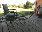 Antique Rare Baby Stroller Pram Vintage Buggy Wheels Collapsible Pull 1910and039s