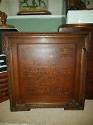 Vintage Reclaimed Oak Office Antique Shop Sign Coffee Rice Accountant Drawing