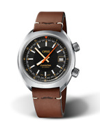 New Oris Movember Edition 2019 Black Dial Mens Leather Strap Watch 73377374034ls