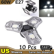 10x 60w E27 Deformable High Bay Led Light Industrial Warehouse Work Mining Lamp