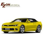Chevrolet Camaro 2011-2015 Convertible Top And Heated Glass Window Black Cloth