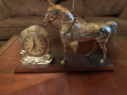 Vintage 1950's Roy Rogers Clock With Lamp