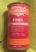 Vintage Fire Extinguisher Allstate Can No. 7975 Bracket 1950and039