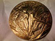 Xxl 100mm Best Wishes Bronze Medal Year Of Joys