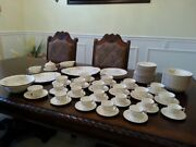 89 Pc Limoges Lafrance 4 Tc G.f.e. Warranted 22k Gold Dinnerware Set Made In Usa