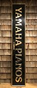 Rare Vintage 60's-70's Yamaha Pianos Store Dealer Large Advertising Sign 76x13