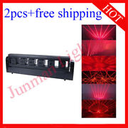 6 Head 300mw Red Moving Head Bar Laser Stage Effect Dj Light 2pcs Free Shipping