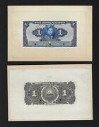 Nicaragua Face And Back One Corduba Nd1949-51 P91p Proof Uncirculated