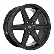 Four 4 24x10 Niche Carina Et 25 Black 5x139.7 5x5.5 Wheels Rims