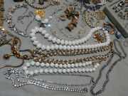 Huge Rhinestone Jewelry Lot Vintage Antique Wearable Ab Moon Glow 110 Pieces
