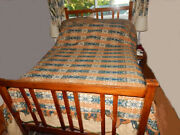 1847 Lg Jacquard Coverlet Ruth Jefferis Brandywine Chester Co. Pa Exc Cond
