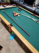 8 Olhausen Pool Table Provincial With All Accessories