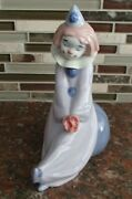 Nao By Lladro 1649 Circus Love Clown With Bouquet Of Flowers - Mwob, Rv135