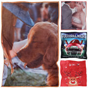 Custom Flannel Fleece Blanket Throw Plush Gift Made From Your Personalized Photo